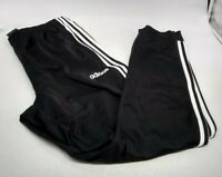 Adidas Men's Essentials 3-Stripes Tapered Tricot Pants - Black/White - Size XL