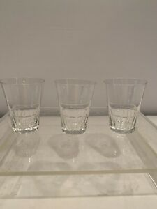 Depression Glass Era Crystal Clear Vintage Shot Glass-Set Of 3