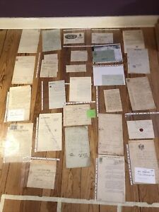 Konvolut 31 Alte Dokumente 1750-1930 Urkunden Schriftstücke Verträge  etc. (004)