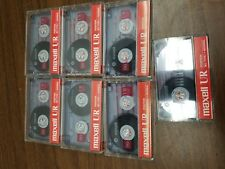 7 - Maxell UR-90 Blank Audio Cassette Tapes Maxell UR90 New