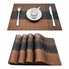 Place Mats 4pcs Plastic Dining Table Place Runner Linens Kitchen Top Accessories