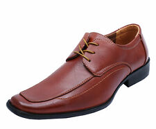 MENS BROWN LACE-UP SMART LOAFERS FORMAL WEDDING WORK SUIT BROGUES SHOES 6-11