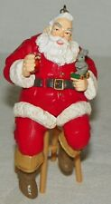Coca Cola Christmas Trim A Tree Collection Ornament 1947 Santa Sitting on Stool