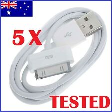 5X USB Cable Data Charger for Apple iPhone 4 4S iPod Touch iPad (White) 1 Meter
