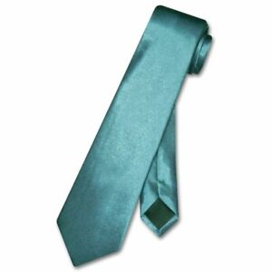 Boys NeckTie Solid DARK TURQUOISE BLUE Color Youth Neck Tie
