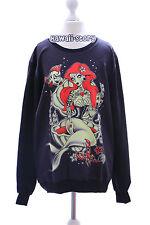 TY-G040 Evil Mermaid Meerjungfrau black schwarz Gothic Punk Sweatshirt Pullover