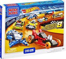 Mega Bloks 91743 - Hot Wheels Super Race 8 Car Pack, 289 Teile, baue 8in1 Autos