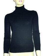 LUXE OH `DOR® 100% Cashmere Women Rollkragen Pullover black Gr 34/36 XS/S