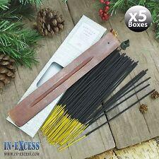 5 x boîtes de 60 encens bâtons d'encens en bois et détenteurs vanilla sugar (300 bâtons)