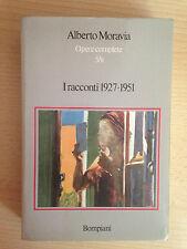 ALBERTO MORAVIA opere complete 5/II I racconti 1927-1951 Bompiani 1974