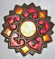 Vintage/Antique Counter Point Cast Iron, Stain Glass Trivet. Made in Japan