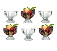 6 x Glass Fruit Bowl Cocktail Salad Fruit Serving Dishes Mini Dessert Glasses