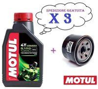 3 x litri OLIO MOTUL 5100 10/40 10W40 4T + FILTRO OLIO YAMAHA XJ6 600 2011