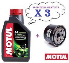 3 x litri OLIO MOTUL 5100 10/40 10W40 4T + FILTRO OLIO YAMAHA YZF R6 600 2000