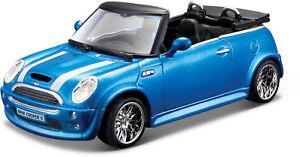 MINI COOPER S Cabriolet Blue scale 1:3 2 From Bburago