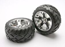 Traxxas 5577R Anaconda Tires w/All-Star Front Wheels (2) Jato (Chrome) Non Hex