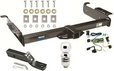 2003-2019 CHEVY EXPRESS 1500 2500 3500 COMPLETE TRAILER HITCH PKG W/ WIRING KIT