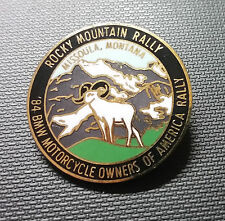 BMW Broche 89 MOTORCYCLE OWNERS of America Rocky Montain Rallye 26 mm