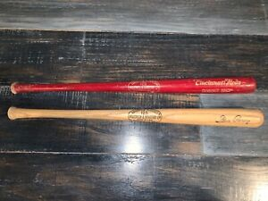Lot Of 2 Lousiville Slugger Cincinnati Reds Dugout Shop Steve Garvey Mini Bats