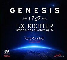 CASALQUARTETT -GENESIS 1757 (STREICHQUARTETTE OP.5) 2 SACD NEU FRANZ X. RICHTER