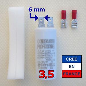 Condensateur 3.5 µF uF moteur store, volet, VMC, pompe, climatisation, hotte...