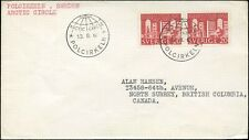 Cover 1962 SWEDEN ARTIC CIRCLE to NORTH SURREY, BC.