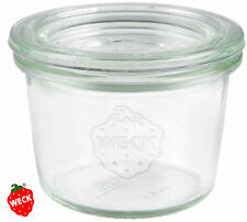 12x 80 ml WECK-Mini-Sturzglas,Sturz Gläser Back Form Pesto Marmelade Dip Dessert