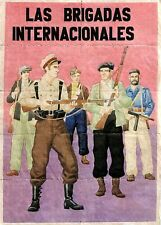 RARE ORIG HISTORIC INTERNATIONAL BRIGADE (SPANISH CIVILWAR) POSTER! 6 DIFF AVAIL