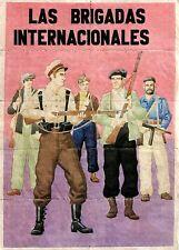 RARE ORIG HISTORIC INTERNATIONAL BRIGADE (SPANISH CIVILWAR) POSTER! 6 DIFF $180!