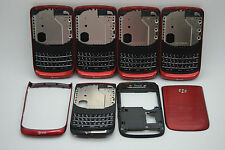 LOT of 5 OEM Blackberry torch 9800 RED 4pc back housing REF USA seller