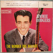 1958 JIMMIE RODGERS THE NUMBER ONE BALLADS EXTENDED PLAY ROULETTE RECORDS