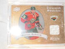 2008-09 UD Artifacts Hockey #TS-MG Marian Gaborik! Treasured Jersey Swatch Wild