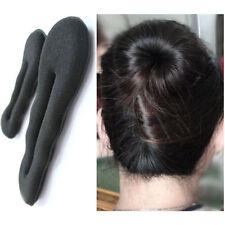 2pcs Magic Sponge Hair Styling Donut Clip/bun Former Maker (1 Large+1 Small)