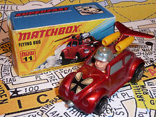Matchbox Superfast 11 Volkswagen Beetle Volar Bug Plateado Windows, precioso limpio
