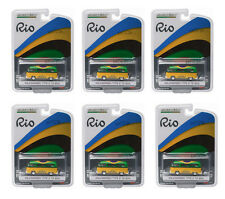 GREENLIGHT 1:64 SCALE RIO GAME BRAZIL VOLKSWAGEN VW T2 BUS 6 PCS 51037