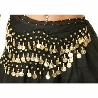 Chiffon 3 Row Belly Dance Hip Scarf Shimmy Belt Costume Wrap Tribal Dancing UK