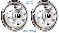 "19.5"" HINO 258LP TRUCK 8 LUG WHEEL SIMULATOR HUBCAP RIM LINER TWO FRONT COVERS ©"
