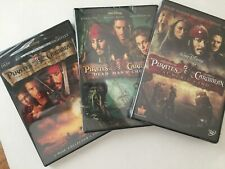 Pirates of the Caribbean Trilogy (Dvd, 4-Discs) First 3 Movies, New