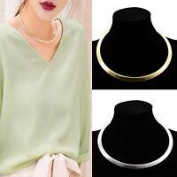 Fashion Design Women Punk Gold/Silver Plated Metal Bib Collar Choker Necklace