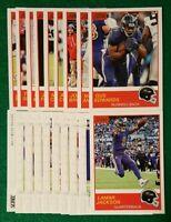 2019 Score Baltimore Ravens Team Set Lamar Jackson, Mark Ingram RC 20 Cards 9 RC