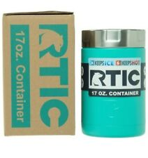 New RTIC 17oz Insulated Food Container STAINLESS STEEL Caribbean Current / Teal