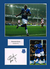 Arouna KONE SIGNED Autograph 16x12 Mounted Card AFTAL COA Everton FC
