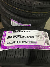 4 New 235 75 15 Nexen N'Priz AH5 White Wall Tires