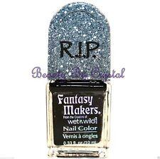 Wet N Wild Fantasy Makers R.I.P. Nail Color Polish- BLACK PEARL 11138 Creme