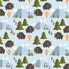 Fabric Let's Go Camping Don't Feed the Bears on Cotton by the 1/4 yard