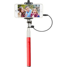 "Vivitar 42"" Selfie Stick with Built-In Shutter Release and Folding Clamp, Red"