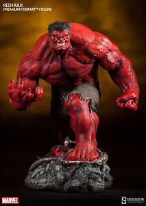 *RED HULK PREMIUM FORMAT FIGURE SIDESHOW MARVEL INCREDIBLE AVENGERS IRON MAN