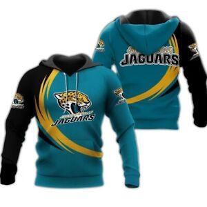 Jacksonville Jaguars Gym Workout Casual Hooded Sweatshirt Hoodie Pullover Jacket