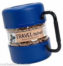 Vittles Vault Dog Supplies Dog Travel Crate Blue Dog food Container Portable New