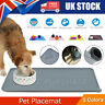 Silicone Pet Feeding Mat Non Slip Pet Food Placemat for Dog Cat Puppy 47*30cm UK